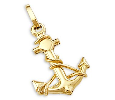 Amazon 14k yellow gold anchor sailor nautical charm pendant 14k yellow gold anchor sailor nautical charm pendant aloadofball Images