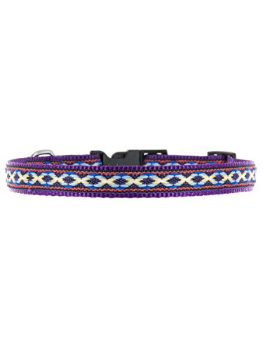 "Kakadu Pet Cheyenne Dog or Cat Collar, Small, 1/2"" x 16"", Purple"