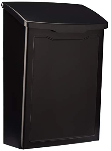 Architectural Mailboxes 2681B Black Marina Wall Mount Mailbox, -