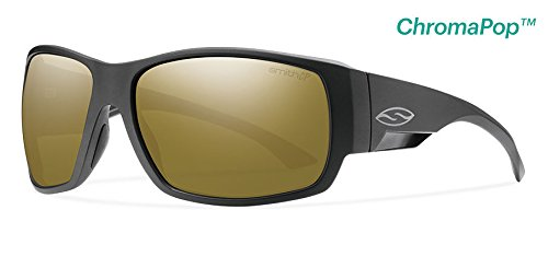 Collection Sunglasses Casual Lifestyle (Smith Optics Dockside Lifestyle Polarized Sunglasses, Matte Black/Chromapop Bronze Mirror)