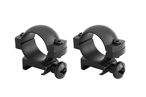Low Profile Set - Monstrum Tactical 1 Inch Scope Ring Set, Low Profile, with Picatinny/Weaver Rail Mount