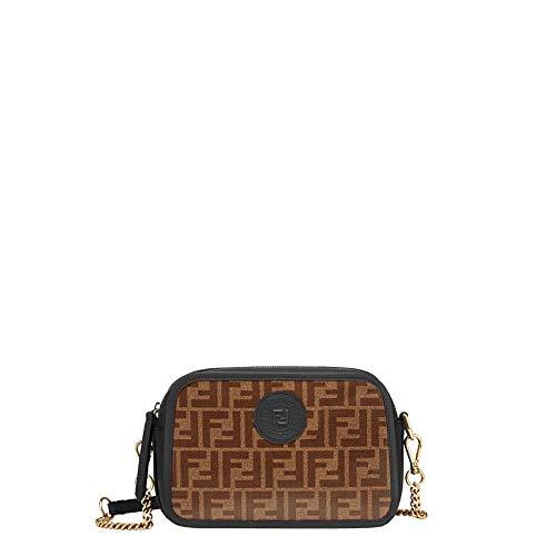 Fendi Women's 8Bt287a6vof14rt Brown Fabric Shoulder Bag (Fendi Brown Bag)