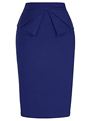 PrettyWorld Vintage Dress Women's Wear to Work Stretchy Office Pencil Skirt