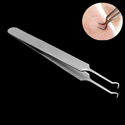 2021 NEWEST Blackhead Remover Comedone Extractor, SHZDMH 9pcs Pimple Extractors Extractor Kit, Popper Extraction Tool Loop Curved Tweezers with free double-headed eyebrow brush
