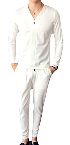 today and Mens Lightweight Set White Tracksuit Pants Sweatshirts UK rUrFI4x