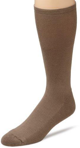 (ECCO Men's Cushion Mercerized Cotton Sock,Taupe,10 to 13)