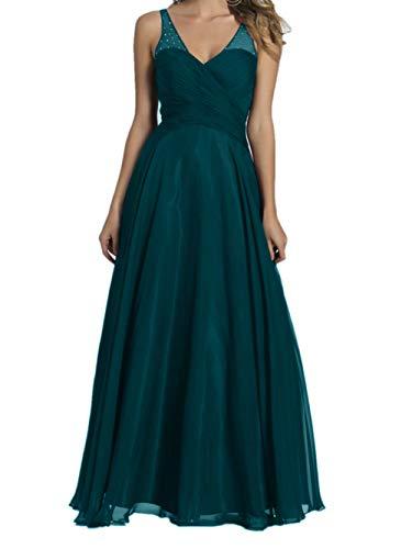 Promkleider Braut V Lang Blau Gruen Chiffon Marie Ausschnitt La Abendkleider Brautjungfernkleider Burgundy 8wBFqF