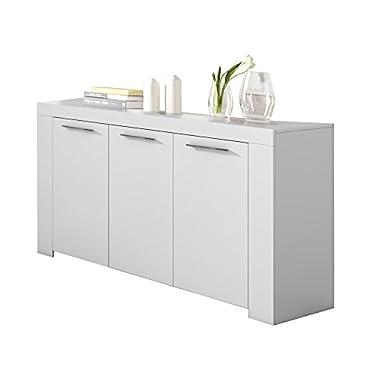 Habitdesign-Aparador-Buffet-Moderno-Armario-Auxiliar-Comedor-Modelo-Ambit-Color-Blanco-Artik-Medidas-144-cm-Ancho-x-80-cm-Alto-x-42-cm-Fondo
