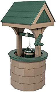 product image for DutchCrafters Small Wishing Well with Poly Roof (Weatherwood/Green)