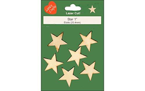 - Lara's Wood Star 1 in. 6 pc.