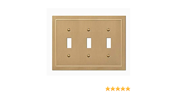 Allen Roth Bethany 3 Gang Champagne Bronze Triple Toggle Standard Wall Plate Amazon Com