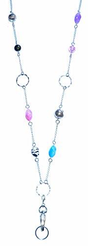 Hidden Hollow Beaded Chain Lanyard Necklace, 34