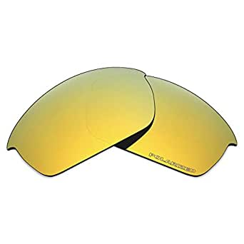 Mryok+ Polarized Replacement Lenses for Oakley Flak Jacket - 24K Gold