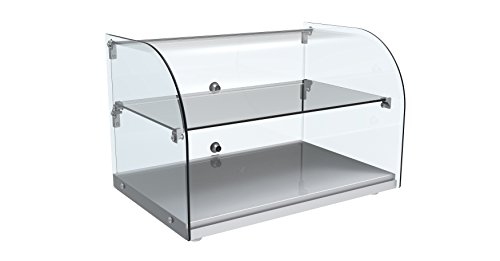 EQ Kitchen Line RTZ-45L Commercial Countertop Double Display Glass Round top, 14.25