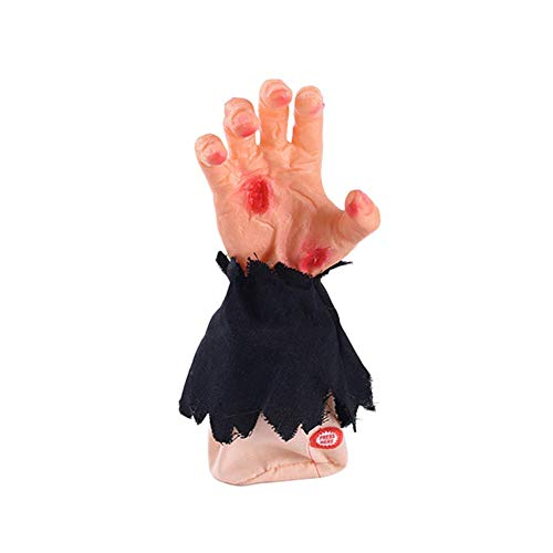 Halloween Ghost Gloves Ghost Hand Decorative Props Walking Hand Gift Haunted House Secret Room Layout Electric Music Singing Ghost -