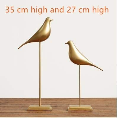 ZAMTAC Original European Resin Bird Figurine Home Interior Decoration Craft Wedding Dove of Peace Statue Office Mascot – Color Style 16