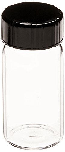 Thread Screw Vial Sample (Kimble 60811D-5 Borosilicate Glass Clear Screw Thread Sample Vial with Rubber Lined Closures, 5 Drams Capacity, 24-400 GPI Thread Finish (Case of 72))