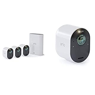 Arlo Ultra 4K UHD & HDR - 4 Wire-Free Indoor/Outdoor Security Cameras with Color Night Vision, 180° View, 2-way Audio, Spotlight, Siren, Works with Alexa (B07KYC8QR1) | Amazon price tracker / tracking, Amazon price history charts, Amazon price watches, Amazon price drop alerts