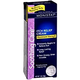 Special Pack of 5 MONISTAT Itch relief cream 1 oz