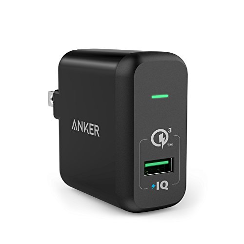 Quick Charge 3.0, Anker 18W USB Wall Charger (Quick Charge 2.0 Compatible) PowerPort+ 1 for Galaxy S7/S6/Edge/Plus, Note 5/4, LG G4, HTC One A9/M9, Nexus 6, iPhone, iPad and More