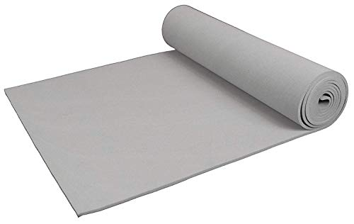 XCEL - Extra Soft Craft Foam Roll with Minor Defects, Grey, Size 54 Inch x 12 Inch x 1/8 Inch ()