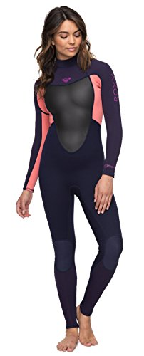 Roxy Womens 3 2Mm Prologue - Back Zip Wetsuit - Women - 12 - Pink Blue  Ribbon Coral Flame 12 8cd319c23