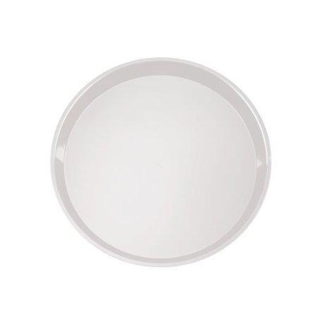 EMI Yoshi Koyal Deli Max Round Trays, 14-Inch, White, Set of 25
