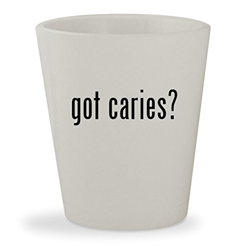 got caries? - White Ceramic 1.5oz Shot - Nc Cary Glass