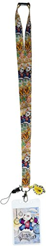 Lanyard - Alice in Wonderland - Rabbit w/ Soft Touch Dangle New 25323
