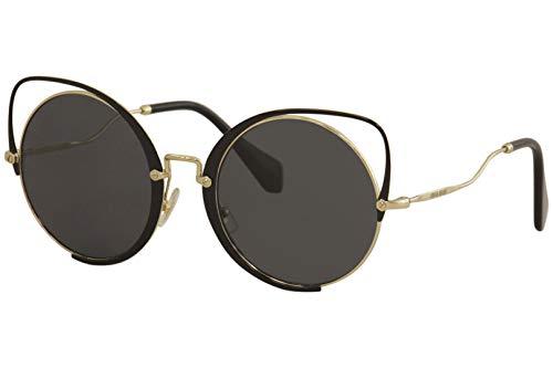Sunglasses Miu MU 51 TS 1AB5Z1 PALE GOLD/BLACK (Miu Miu Black Sunglasses)