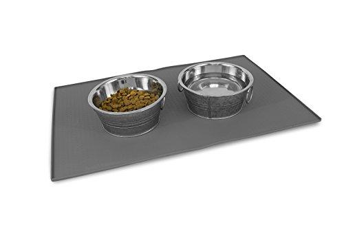JoJo's Pet Supplies Pet Food Mat Premium FDA Food Grade Silicone (24 X 16)