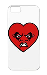 TPU Black Cover Case For Iphone 5c Love You Maddly Madly Funny Cartoon Funny Cartoon Valentine Fun Heart
