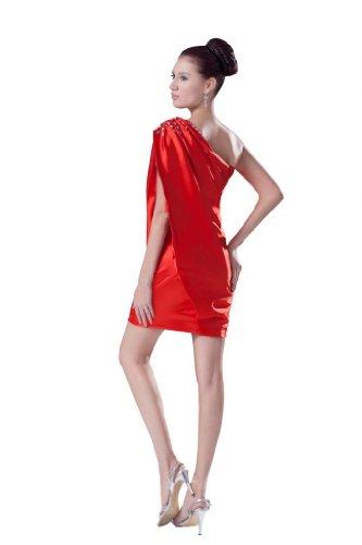 Orifashion para vestido de noche mujer corto rojo Rojo