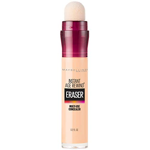 Maybelline New York Instant Age Rewind Eraser Dark Circles Treatment Concealer Makeup, Ivory, 0.2 fl. oz. (Best Primer For Fine Lines Under Eyes)