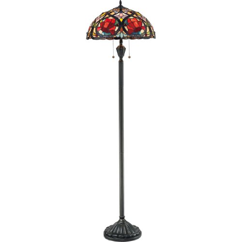 Quoizel TF879F 2-Light Larissa Floor Lamp in Vintage Bronze