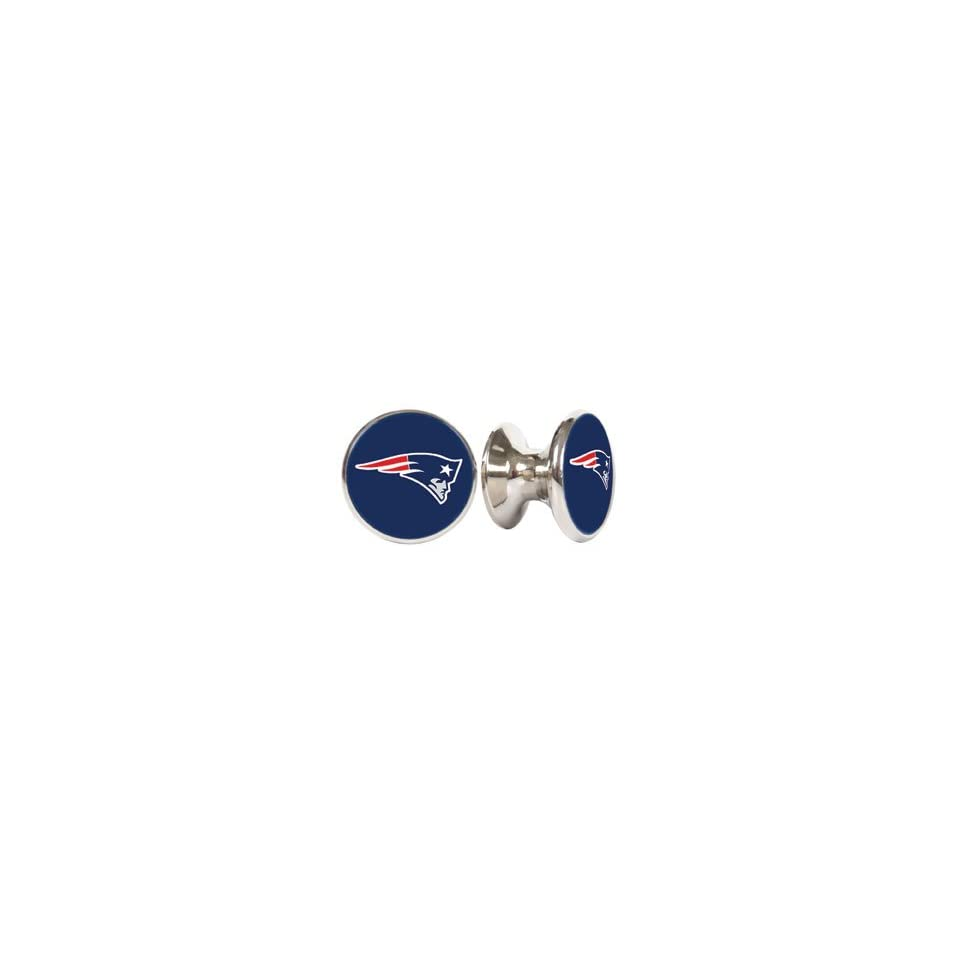 New England Patriots NFL Stainless Steel Cabinet Knobs / Drawer Pulls (2 pack)
