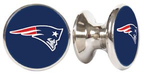 New England Patriots NFL Stainless Steel Cabinet Knobs / Drawer Pulls (2-pack) (Nfl Drawer Knobs compare prices)
