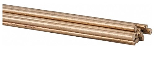 36 Inch Long, 3/32 Inch Diameter, Bare Coated, Silicon Bronze, TIG Welding and Brazing Rod 1 Lb, Industry Specification ERCuSi-A, 1 Pound Tube