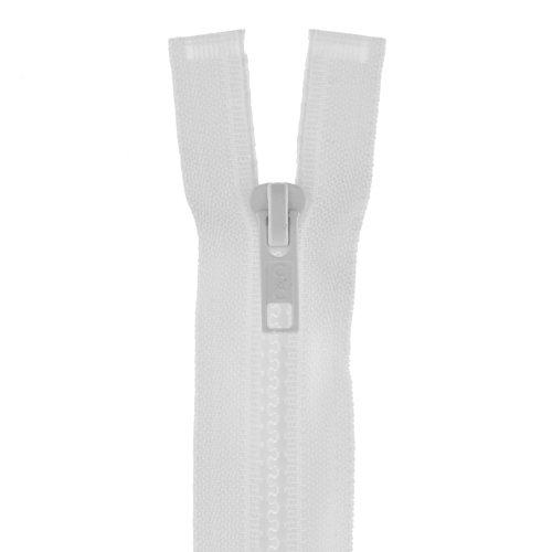 Clark Molded Separating Zipper (Molded Parka Dual-separating 36in White)