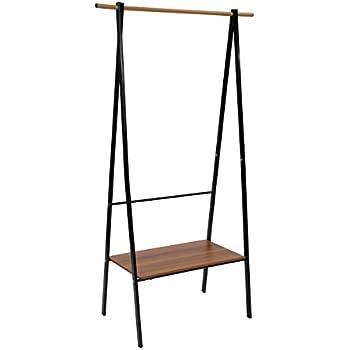 Amazon.com: HOMEFORT - Perchero de metal con estantes ...