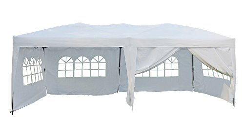 10 X 20 Pop (Mcombo 10x20 EZ POP UP Wedding Canopy Party Tent with 6 Side Walls and Carry Case)