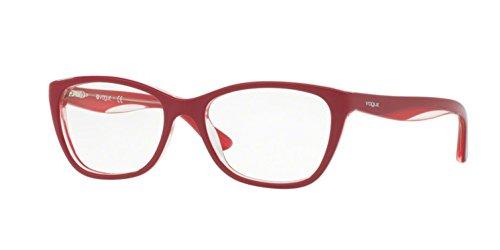 Vogue VO2961 Eyeglass Frames 2494-51 - Topaz Red/Red/Opal - Eyeglass Frames Vogue Red