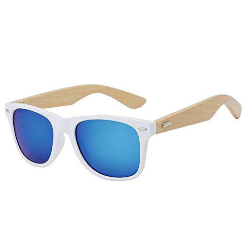 Pausseo Bamboo Frame Sunglasses Wooden Mens Womens Retro Vintage Eyewear Running Cycling Fishing Driving Safety Softball Hiking Sports Lightweight Radiation Protection Summer ()