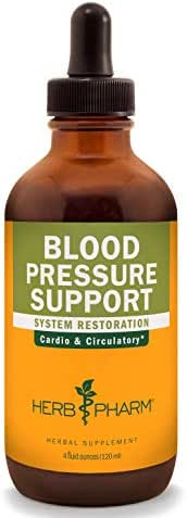 Herb Pharm Blood Pressure Support Liquid Formula for the Cardiovascular and Circulatory Systems - 4 Ounce