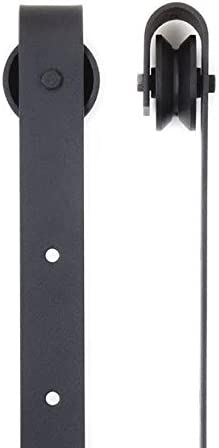 Black J Shape Booster BG025 Sliding Barn Door Hardware Hangers 2pcs
