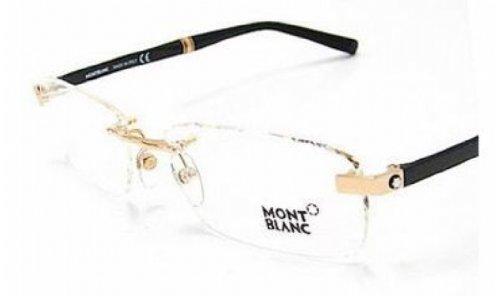 MONT BLANC MB-9101/V Eyeglasses 9101V Black/Gold E69 Frames