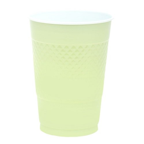 Leaf Green Plastic Cups| 16 oz.| Pack of 20 | Party Supply