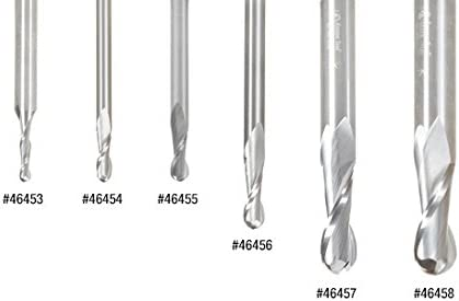 Amana Tool 46453 Solid Carbide Up-Cut Spiral Ball Nose 1.5mm Radius x 3mm Dia x 12mm x 6