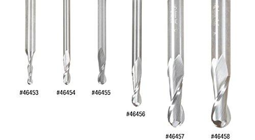 46385 Solid Carbide Up-Cut Spiral Ball Nose 1//16 Radius x 1//8 Dia x 1//2 x 1//4 Amana Tool