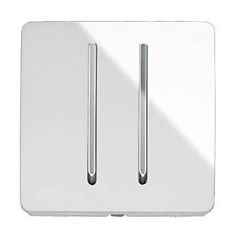 Trendi Switch - Lichtschalter 2 Gang 1 Weg modern glänzend 10A ...